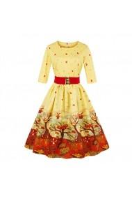 Rochie de seara Mixinni 1587 multicolora