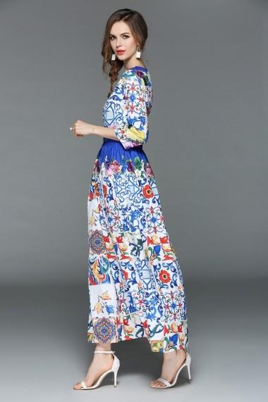 Rochie de zi Ferraga QE739 Multicolor - els