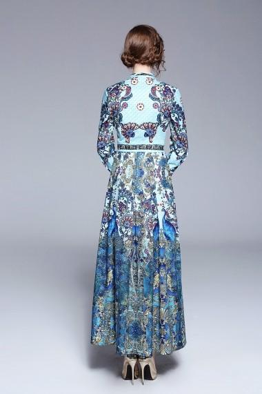 Rochie de zi Ferraga QH096 Albastru - els