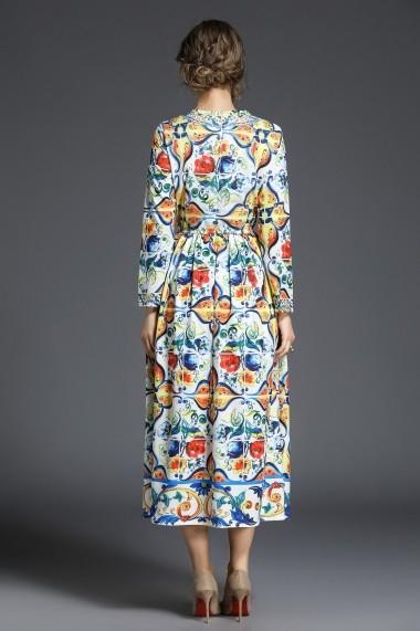 Rochie de seara Ferraga QE264 Multicolor - els