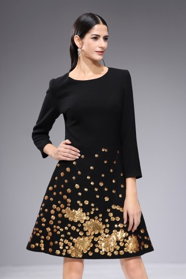 Rochie de seara Ferraga QK330 neagra - els