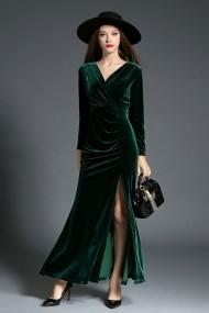 Rochie lunga Ferraga QH881 Verde