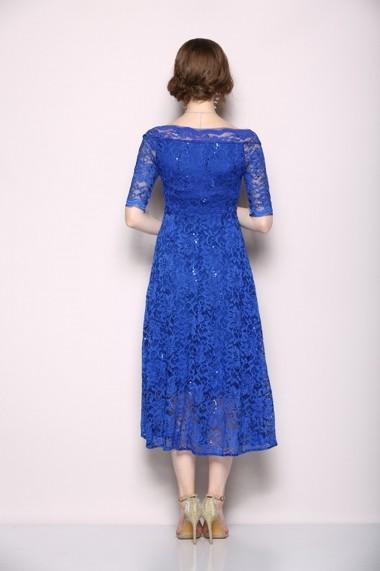 Rochie de seara Ferraga QH154 Albastru - els