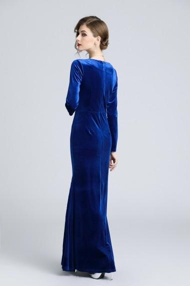 Rochie de seara Ferraga QH881 Albastru - els