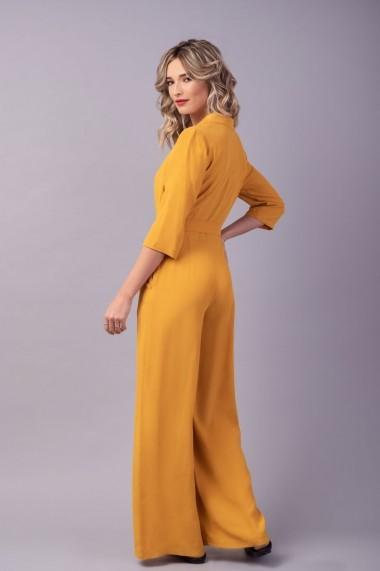 Salopeta mustar Couture de Marie 0008056 din viscoza Valerie