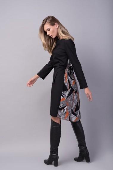 Rochia Couture de Marie din bumbac negru si vascoza BALANCE
