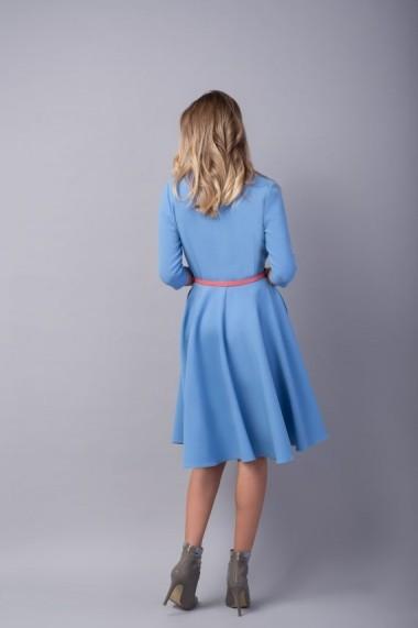 Rochie Couture de Marie bleu clos cu bust petrecut TRUST