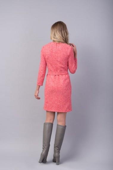 Rochie Couture de Marie roz din amestec de lana - JOY