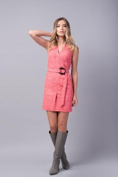 Sarafan Couture de Marie roz din amestec din lana - JOY