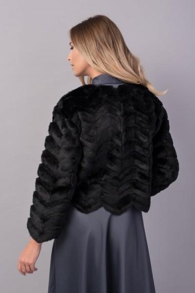 Capa din blana ecologica Couture de Marie neagra COMPLETE