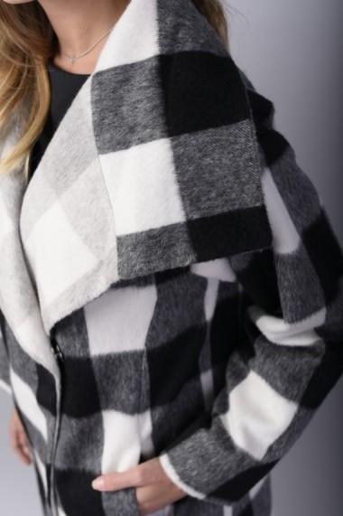 Palton Couture de Marie carou alb si negru -TRUTH