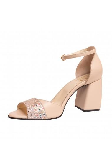 Sandale cu toc Luisa Fiore LFD-MARY-01 Nude
