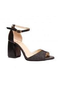 Sandale cu toc Luisa Fiore LFD-MARY-02 Negru