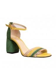 Sandale cu toc Luisa Fiore LFD-ANNE-03 Multicolor