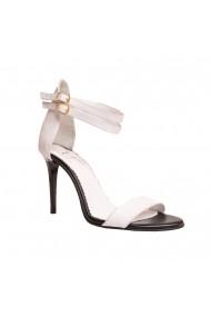 Sandale cu toc Luisa Fiore LFD-DELLA-NOTE-01 Alb