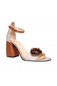 Sandale cu toc Luisa Fiore LFD-LEMONE-01 Alb