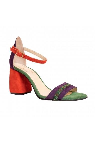 Sandale cu toc Luisa Fiore LFD-REGISTRO-01 Multicolor