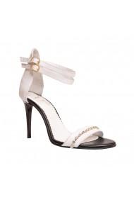Sandale cu toc Luisa Fiore LFD-BRANDUSA-01 Alb