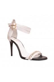 Sandale cu toc Luisa Fiore LFD-ROSSO-01 Alb