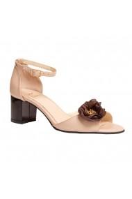Sandale cu toc Luisa Fiore LFD-API-01 Nude