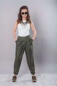 Pantaloni largi V`ZAR`O P0002 Kaki - els