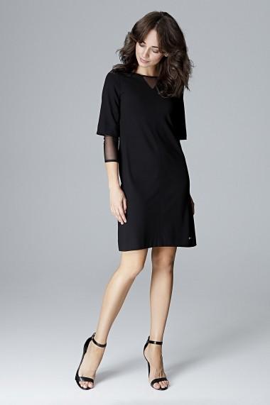 Rochie de zi Lenitif L015 Neagra