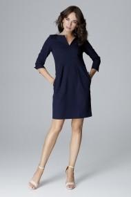 Rochie de zi Lenitif L004 Bleumarin