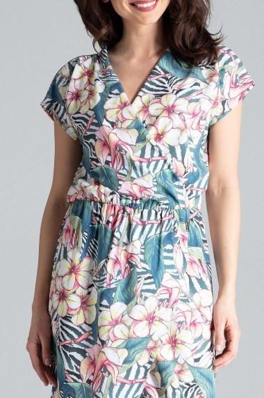 Rochie de zi Lenitif L033 Multicolora