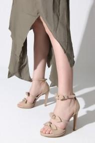 Sandale cu toc Rovigo 388922 bej