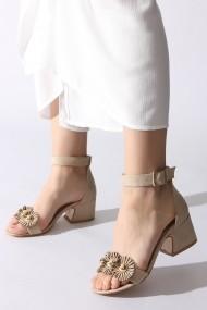 Sandale cu toc Rovigo 389376 bej
