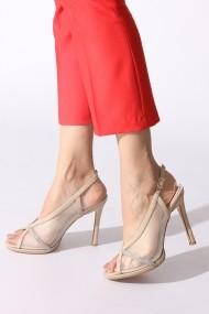 Sandale cu toc Rovigo 389918 bej