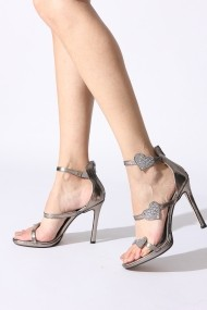 Sandale cu toc Rovigo 389965 argintiu