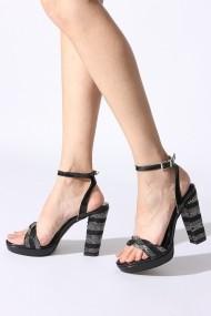 Sandale cu toc Rovigo 53418 negru
