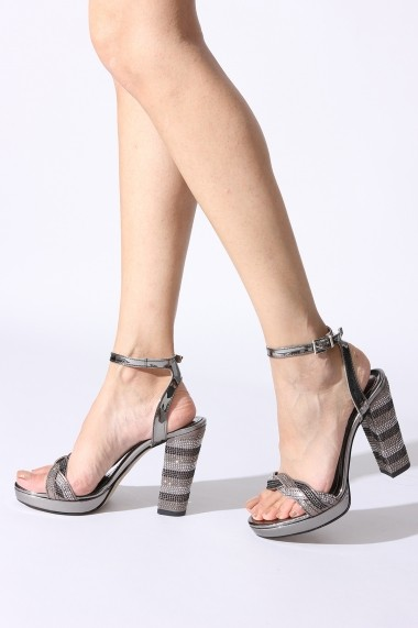 Sandale cu toc Rovigo 53418 argintiu