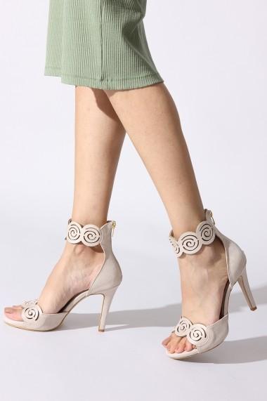 Sandale cu toc Rovigo 813AA bej