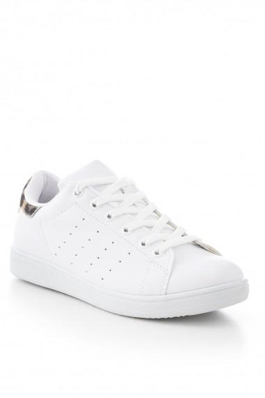 Pantofi sport casual Tonny Black TBSTN-1 Alb
