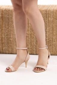 Pantofi cu toc Fox Shoes D340040009 bej - els