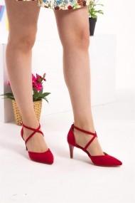 Pantofi cu toc Fox Shoes D654054802 rosu