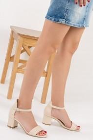 Pantofi cu toc Fox Shoes F283286509 bej