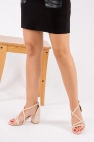 Pantofi cu toc Fox Shoes F654128009 bej