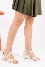Pantofi cu toc Fox Shoes H283289609 bej
