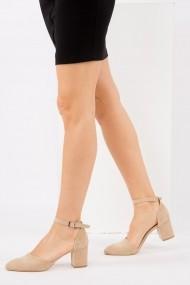 Pantofi cu toc Fox Shoes H303370802 bej