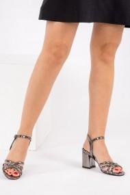 Pantofi cu toc Fox Shoes H340101534 argintiu