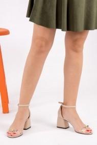 Pantofi cu toc Fox Shoes H752115009 bej