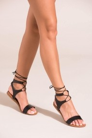 Sandale plate Fox Shoes B548397509 negru