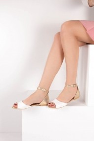 Sandale plate Fox Shoes B726555009 alb