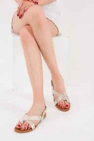 Sandale plate Fox Shoes F713008014 auriu