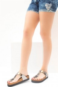 Papuci Fox Shoes B777731034 argintiu