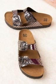 Papuci Fox Shoes B777775407 argintiu