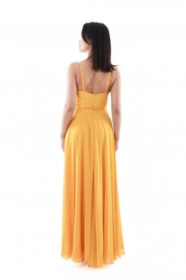 Rochie Lille Couture din voal Ani, portocalie
